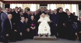 Clero della Diocesi con Giovanni PaoloII