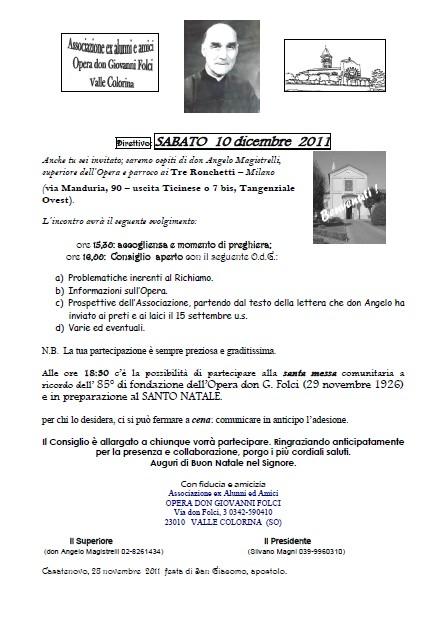 Direttivo 10 Dicembre 2011