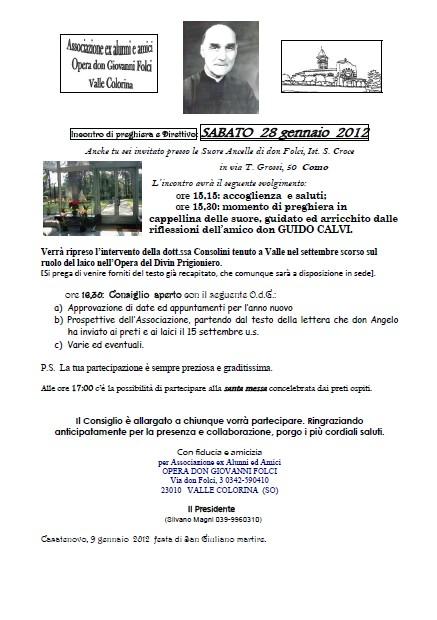 Direttivo 28 Gennaio 2012