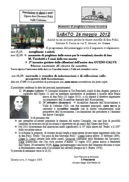 Direttivo 26 Maggio 2012