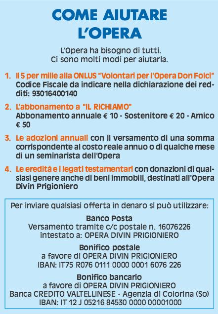 Come aiutare l'Opera