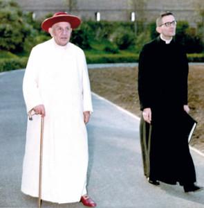 Cardinal Capovilla con GiovanniXXIII