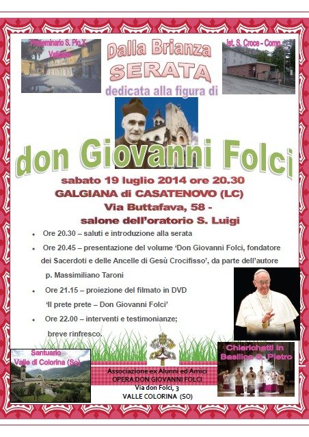 Serata dedicata a don Giovanni Folci