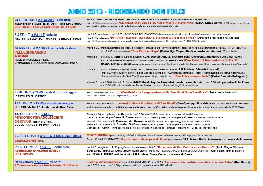 Ricordando Don Folci - Anno 2013