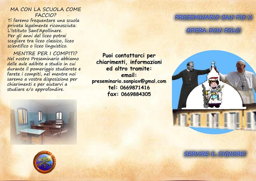 Preseminario S. Pio X - Opera Don Folci
