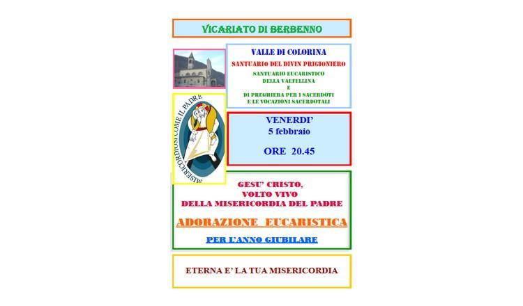 Adorazione eucaristica presso il Santuario del Divin Prigioniero
