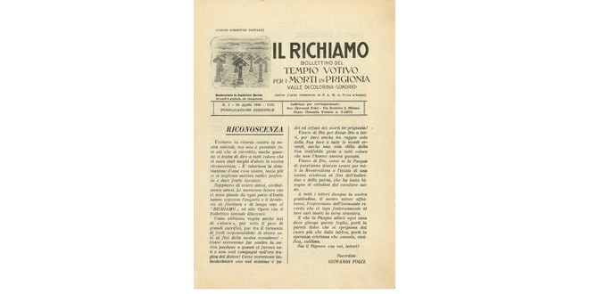 Richiamo Numero 1 - Aprile 1930