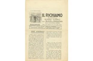 Richiamo Numero 3 - Settembre 1930