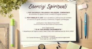 Esercizi spirituali Agosto 2017